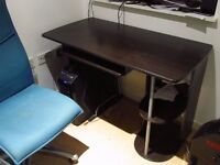 Office / Computer desk (dark wood)