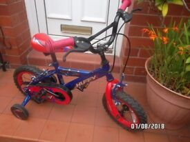 BOYS BIKE .. AS NEW HUFFY SUIT AGE 2.5 YEARS to 5
