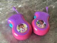 Doc mcstuffins walkie talkies