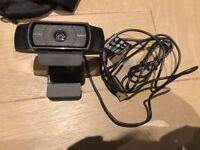 Logitech C920 HD 1080p Webcam - USB - FITS tripods!