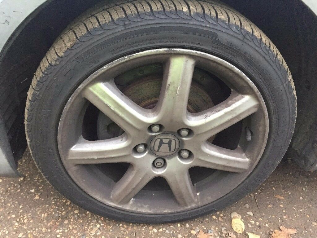 honda civic sport 2006 mk8 17 inch alloy wheels with good tyres 225/45/17