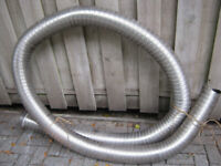 Pending collection steel Flue Chimney Stove Liner, approx 5m long