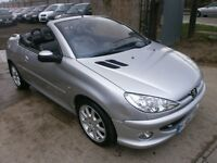 2005 PEUGEOT 206 CC 1.6 SPORT CONVERTIBLE, SERVICE HISTORY, HPI CLEAR, LOW MILES, DRIVES VERY