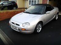 Mgf convertible 1997 r reg metallic silver with black interior and black hood
