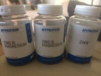 My Protein Supplements/Vitamins-ZMA and Zinc & Magnesium Unopened In Date