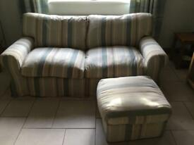 Sofa and footstool