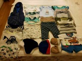 Bundle of baby boy clothes 3 to 6 months