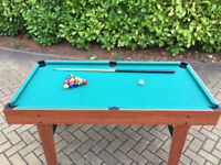 CHILDRENS POOL TABLE converts to Table Tennis/Table Hockey - Length 4 foot, 8 inches