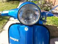 its  a  classic  1980  p.x. vespa. E  150 two stroke 4speed