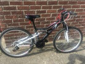 Girls Apollo spiral mountain bike with suspension 18""