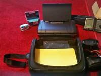 Cameras portable hp office jet printer with bag and ink cartridges