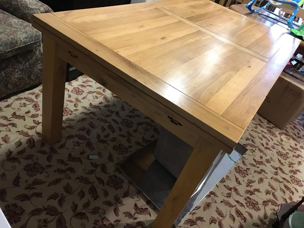 Brilliant Large Oak Table With Two Large Drawer Leaf Ends In Newry County Down Gumtree Download Free Architecture Designs Scobabritishbridgeorg
