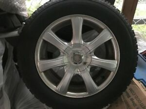 4 WINTER TIRES + MINI MAGS 16 INCHES