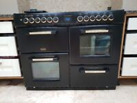 Dual Fuel Belling Range Cooker, 7 hobs with griddle - 4 ovens, Grill, Fanned, Multi and slow cook.