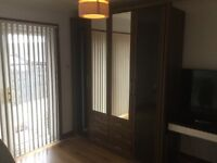 2 double Wardrobes with built in drawers units