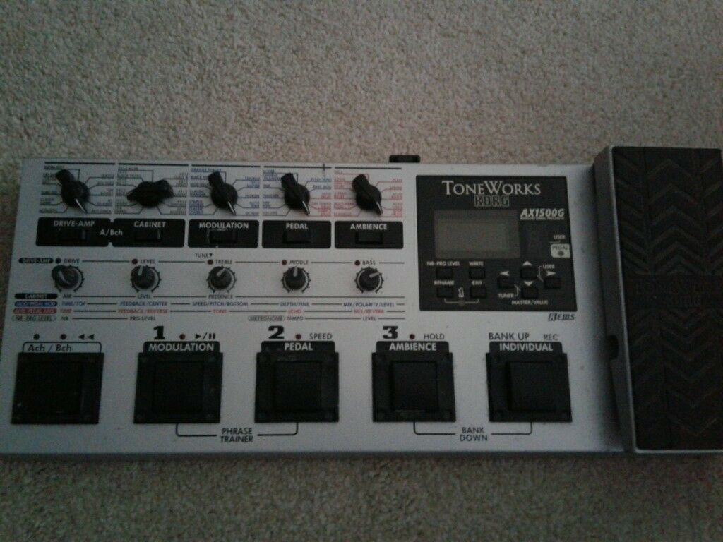 Korg AX1500G tone works Guitar Multi FX Pedal w/ Box