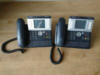 2 x Alcatel 4068 IP Telephone Handsets with Colour Screens