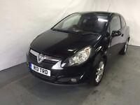 Vauxhall Corsa SXI 3 Door 1.2 Petrol Black 2009 model LONG MOT CLEAN MODEL PRIVATE PLATE