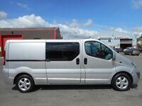 * FINANCE ME ! NO VAT! * Stunning Vauxhall Vivaro Sportive 6-Seat Crew Van - Only 66k and FSH!