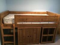 Mid sleeper bed with matching furniture