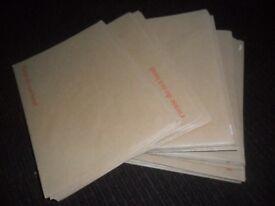 brown card board backed envelopes