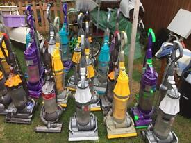 Joblot of 10 Dyson vacuum cleaners all powering up