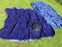 TWO DOUBLE SIZED INFLATABLE CAMPING MATTRESSES PLUS PUMP - Great condition