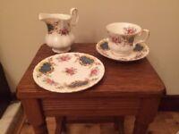 Royal Albert Bone China 21-piece Tea Set in the Berkeley pattern. Unused and still in original box.