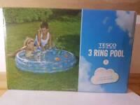 Paddling Swimming Pool 3 ring Kids