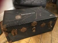 Steamer Trunk Vintage Coffee Table Storage antique