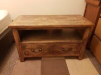 Wooden TV unit / stand with drawer.