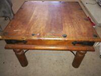 Solid java wood coffee table