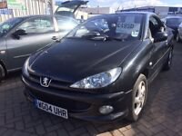 2004 04 PEUGEOT 206cc 1.6 BLACK DRIVE AWAY TODAY BUT SELLING AS SPARE OR REPAIR NEEDS CLUTCH IDEALLY