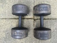 2 x York 35kg Dumbbells in Good Condition