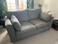 2 Grey Sofas & Footstool