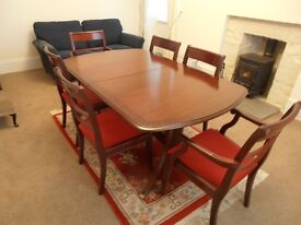 Dining table, chairs & matching Drinks/ Display/Storage unit