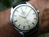 100% Genuine Omega Constellation Pie Pan Vintage 1958 Chrono Auto Swiss 34mm Watch WARRANTY