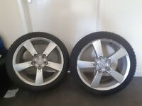 2 summer sports tyres 4 wheels and winter tyres