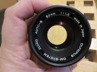 Vintage OLYMPUS Zuiko 50mm f1.8 AUTO-S OM-System SLR CAMERA LENS