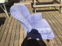 Laura Ashley style chair with cushion in lilac.