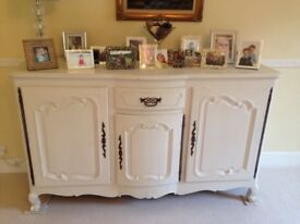 French antique painted cherry wood sideboard/buffet