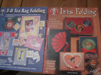Iris Folding and 3d tea bag folding books 16 projects in each