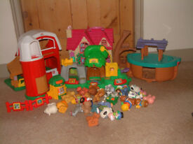 Fisher Price Little People farm zoo ark bundle + ELC house