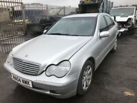 Mercedes Benz c270 cdi breaking spare parts available bumper bonnet wing light radiator ecu set