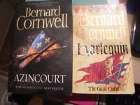 2 Books By Bernard Cornwell Including AzinCourt & Harlequin