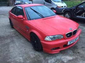 E46 msport red coupe breaking 318