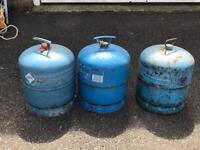Various gas bottles