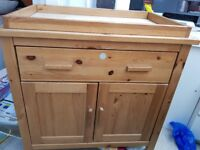 Soild wooden baby changing unit
