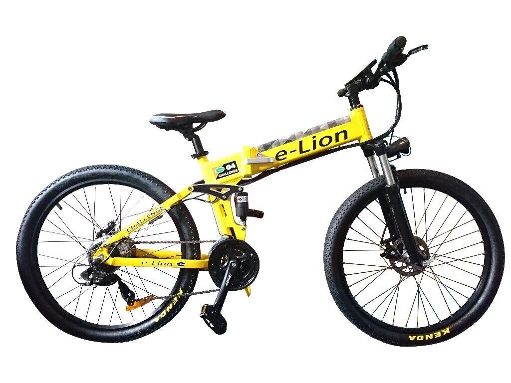0ac5fc8db7e E-Lion Folding Electric Bike Mountain Bicycle Brand New E-Bike   in ...