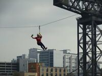 Zip Slide the River Clyde - August